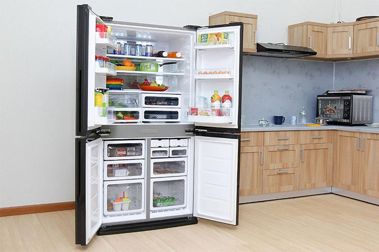 Tủ lạnh Sharp Inverter 626 lít SJ-FX631V thiết kế ấn tượng