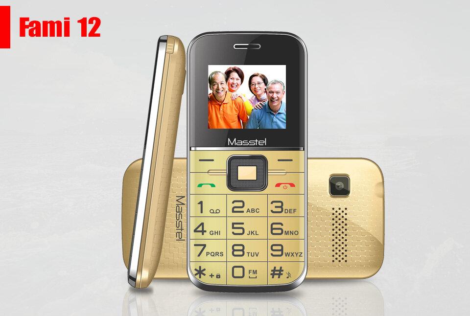 Điện thoại cho người cao tuổi Masstel fami 12
