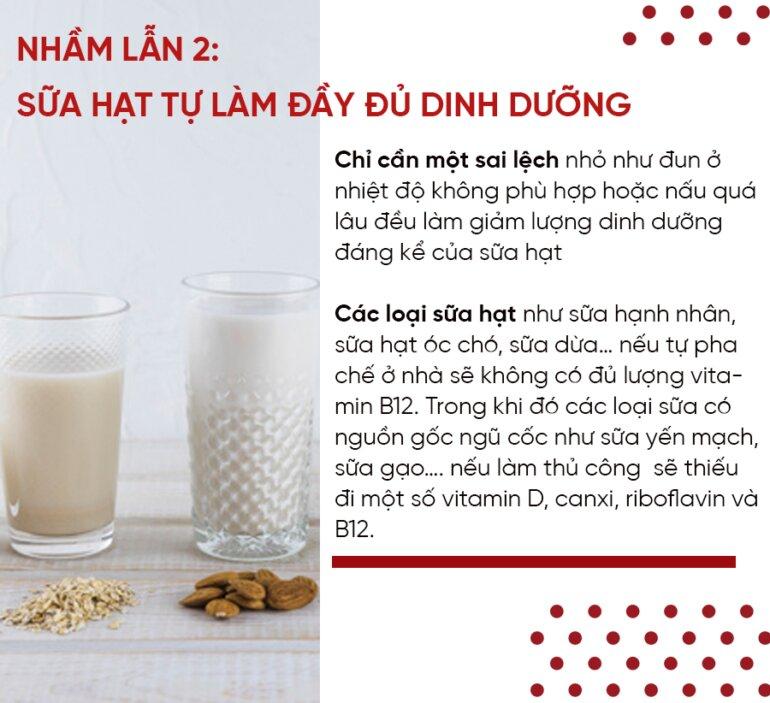 Sữa hạt tự làm đầy đủ dinh dưỡng ?