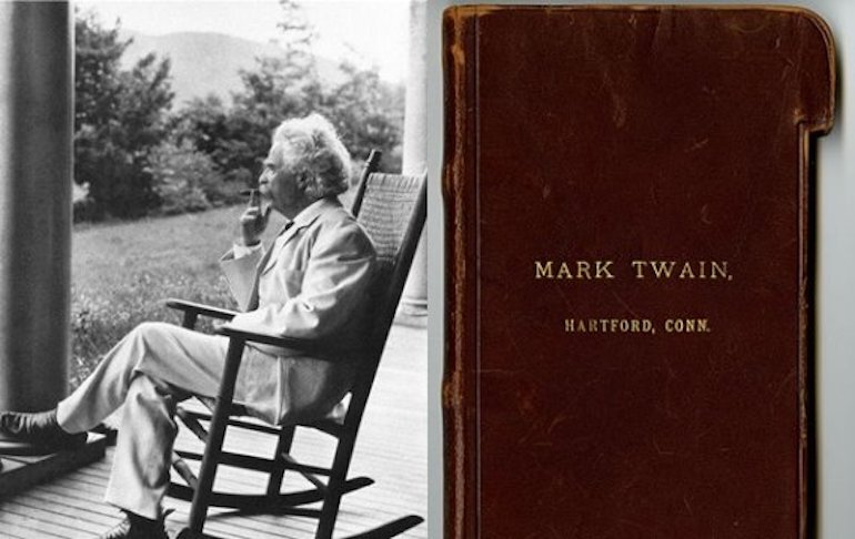 Mark Twain và thói quen dùng sổ ghi chép