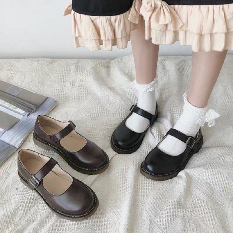 giày búp bê có quai hàn quốc