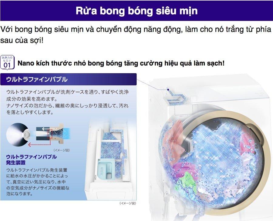 Máy giặt Toshiba có hệ thống cân chỉnh nước hiện đại