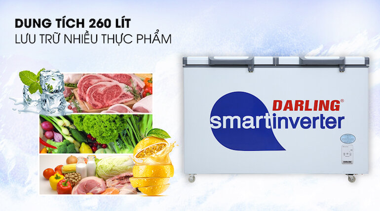 Tủ đông Darling Inverter 260 lít DMF-3699 WSI-4