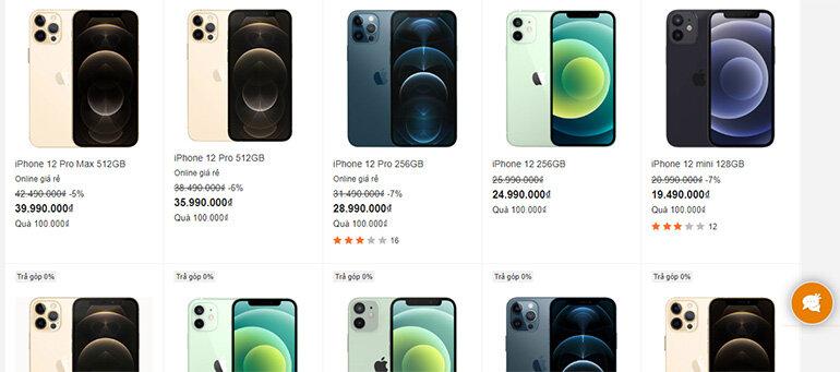 iphone 12 giảm giá