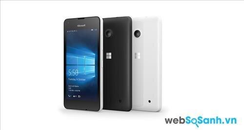 Thiết kế của Lumia 550 không có nhiều thay đổi so với các mẫu trước đây của hãng