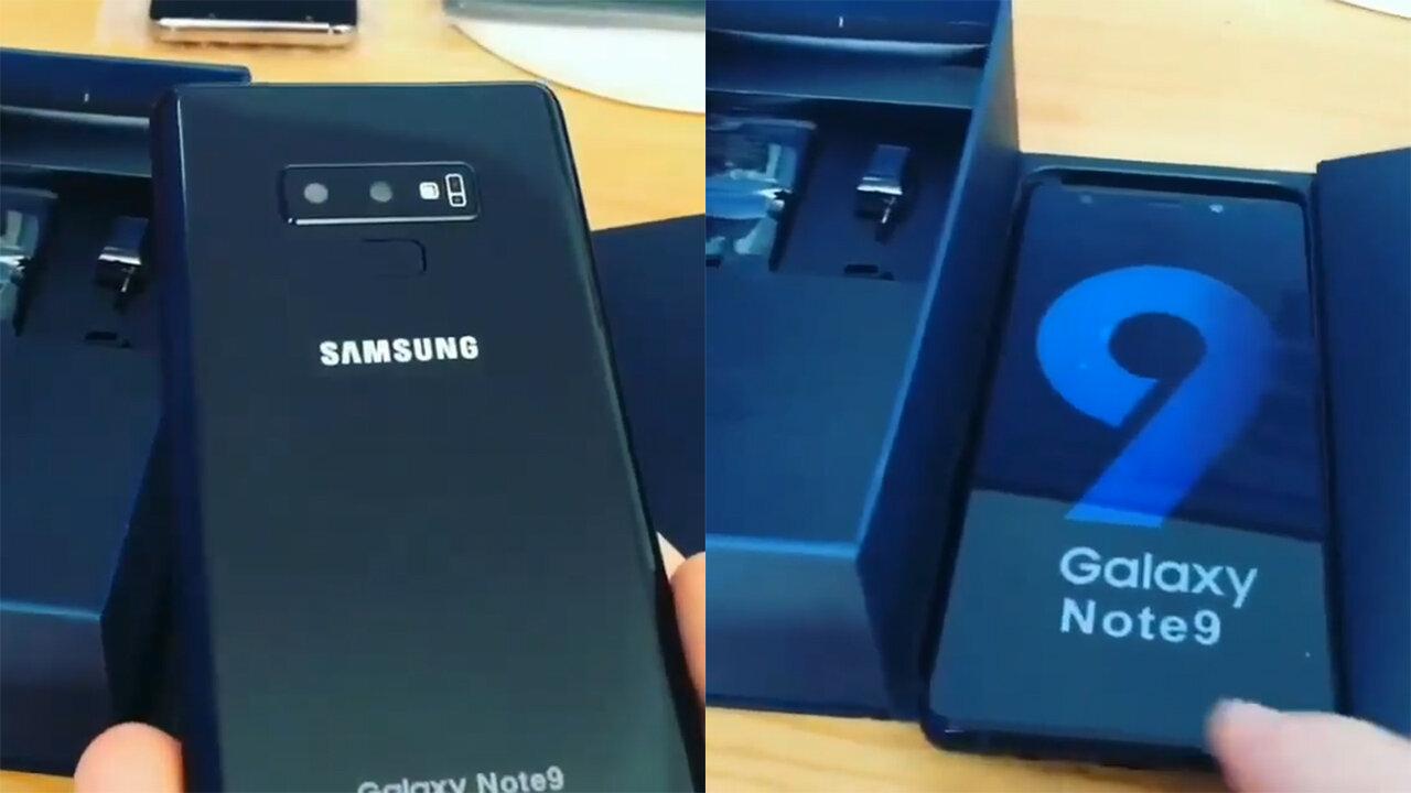 Hình ảnh mở hộp Galaxy Note 9 đang rò rỉ gần đây