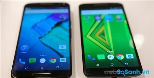 Moto X Style (trái) và Moto X Play