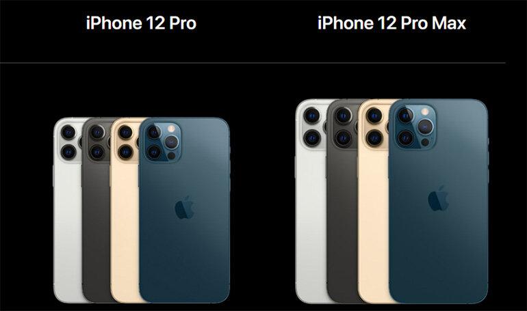 màu sắc trên iphone 12 pro max