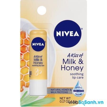 Son dưỡng môi Nivea A Kiss of Milk & Honey Lip Care