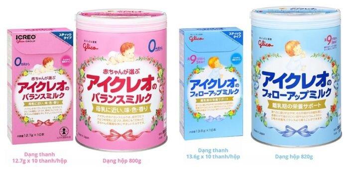 Sữa Glico của Nhật
