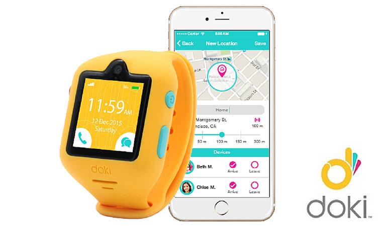 Đồng hồ Doki màu vàng rực rỡ siêu ấn tượng cho các bé