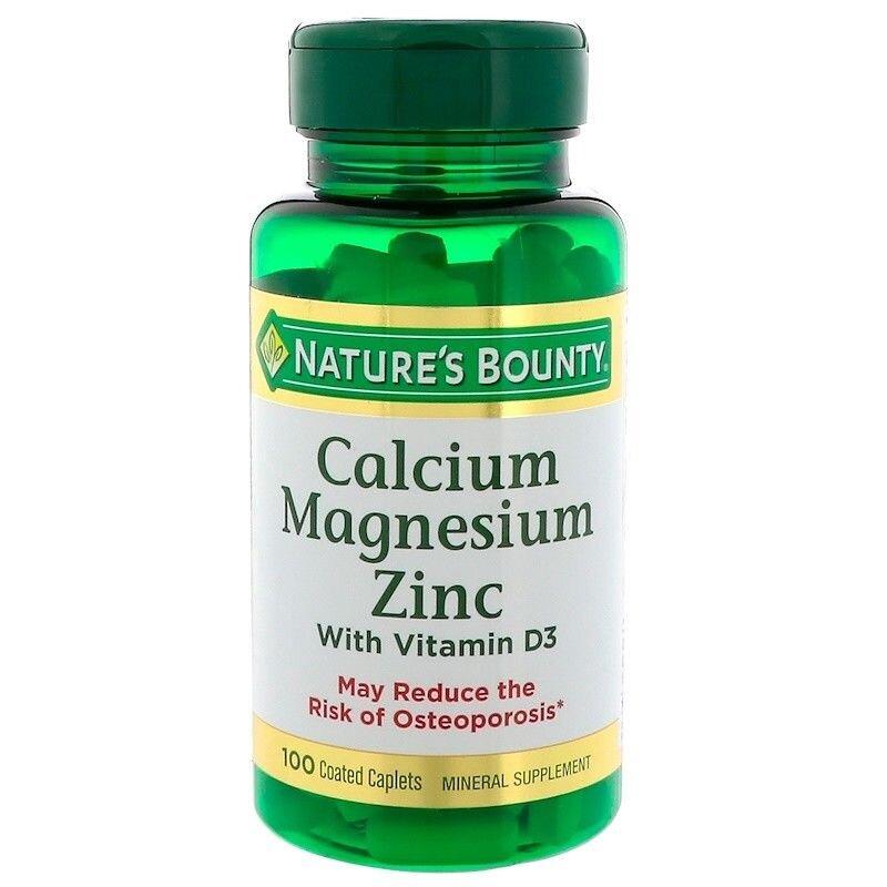 Ngăn ngừa các bệnh về xương với Nature's Bounty Calcium Magnesium Zinc
