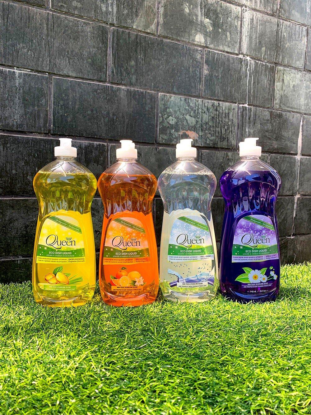 Có rất nhiều loại nước rửa chén Queen với mùi thơm khác nhau