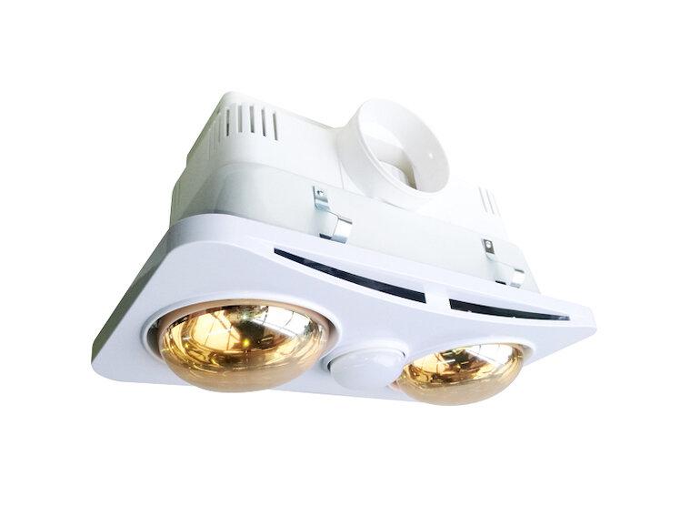 Đèn sưởi âm trần 2 bóng tiện lợi sử dụng.