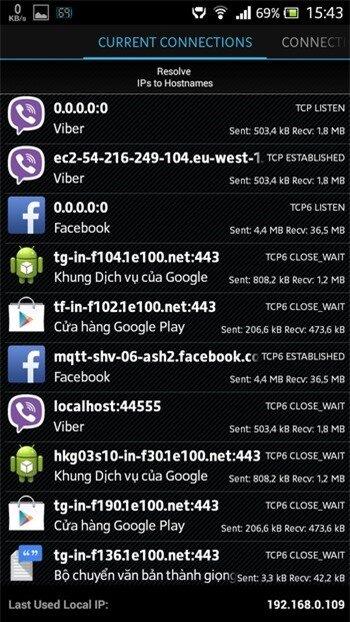 Quản lý kết nối Internet trên Android để ngăn chặn các ứng dụng gián điệp