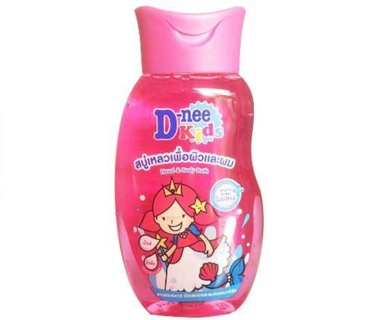 Bộ tắm gội toàn thân trẻ em Kids Dnee 200ml (màu hồng) cho bé gái