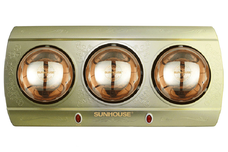 Đèn sưởi nhà tắm Sunhouse loại 3 bóng