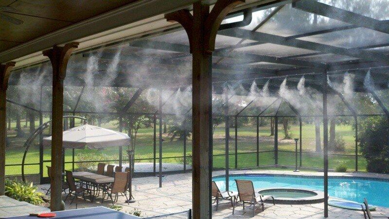 Hệ thống phun sương tạo cảnh quan mờ ảo như sương khói