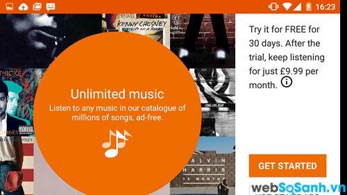 Google Play Music có thể đồng bộ thư viện riêng của bạn hoặc bạn có thể nhận được nhạc quảng cáo miễn phí từ Google.
