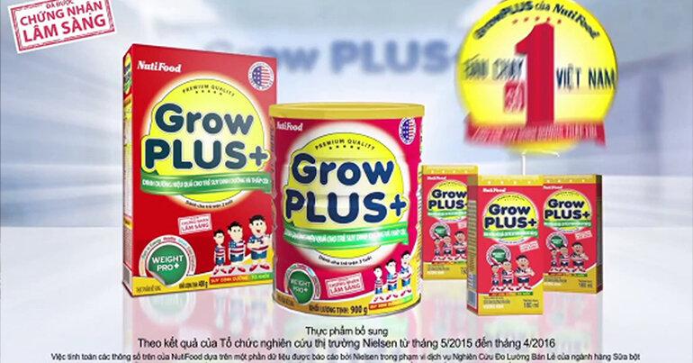 Sử dụng cùng Nuti Grow Plus giúp hiệu quả tăng cân rõ rệt hơn (Nguồn: suadiamondnutrientkid.com)