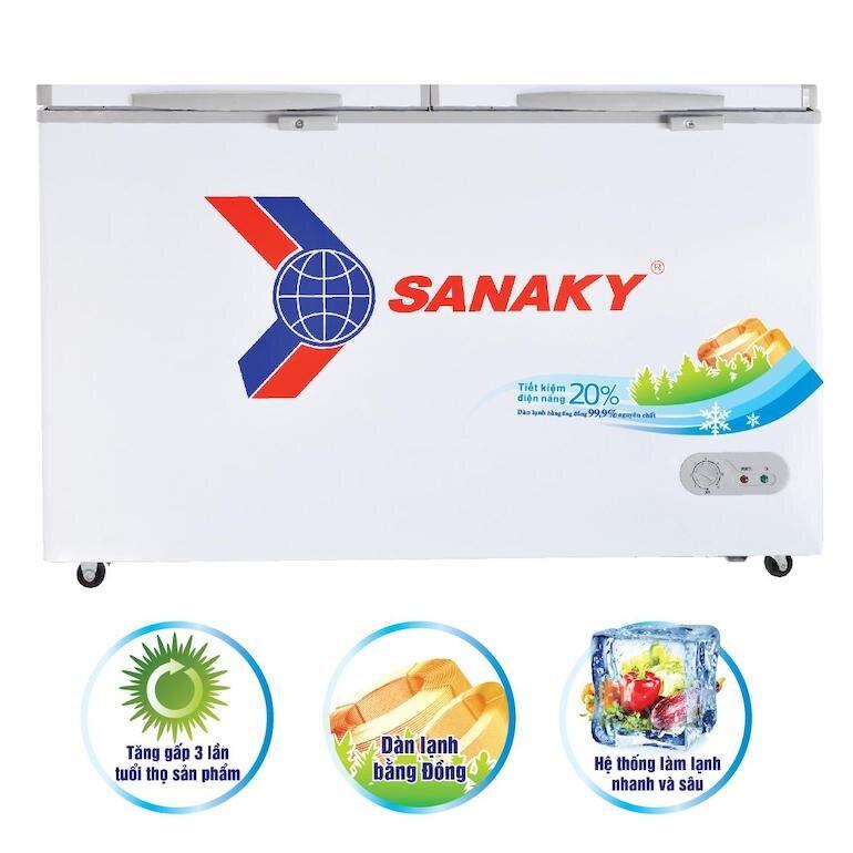 Tủ đông Sanaky 4099w1 được thiết kế hiện đại và tiện dụng cho người dùng