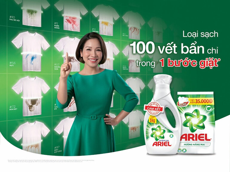 Ariel thương hiệu giặt tẩy số 1 tại Nhật