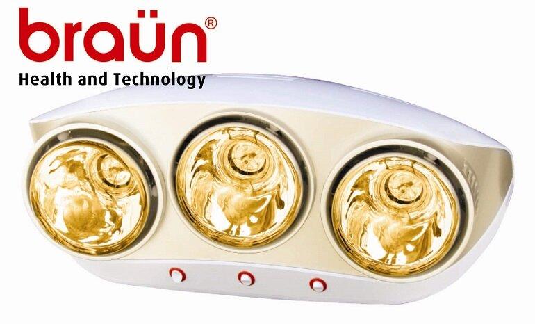 Ưu điểm nổi bật của đèn sưởi nhà tắm braun