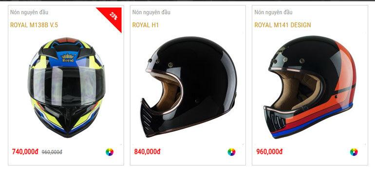 giá mũ bảo hiểm royal helmet