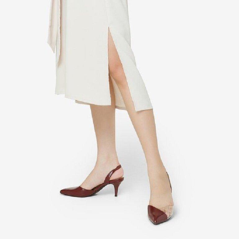 giày cao gót juno mũi nhọn