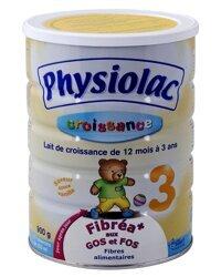 Sữa bột Physiolac Croissance số 3 - hộp 900g (dành cho trẻ từ 1 - 3 tuổi)