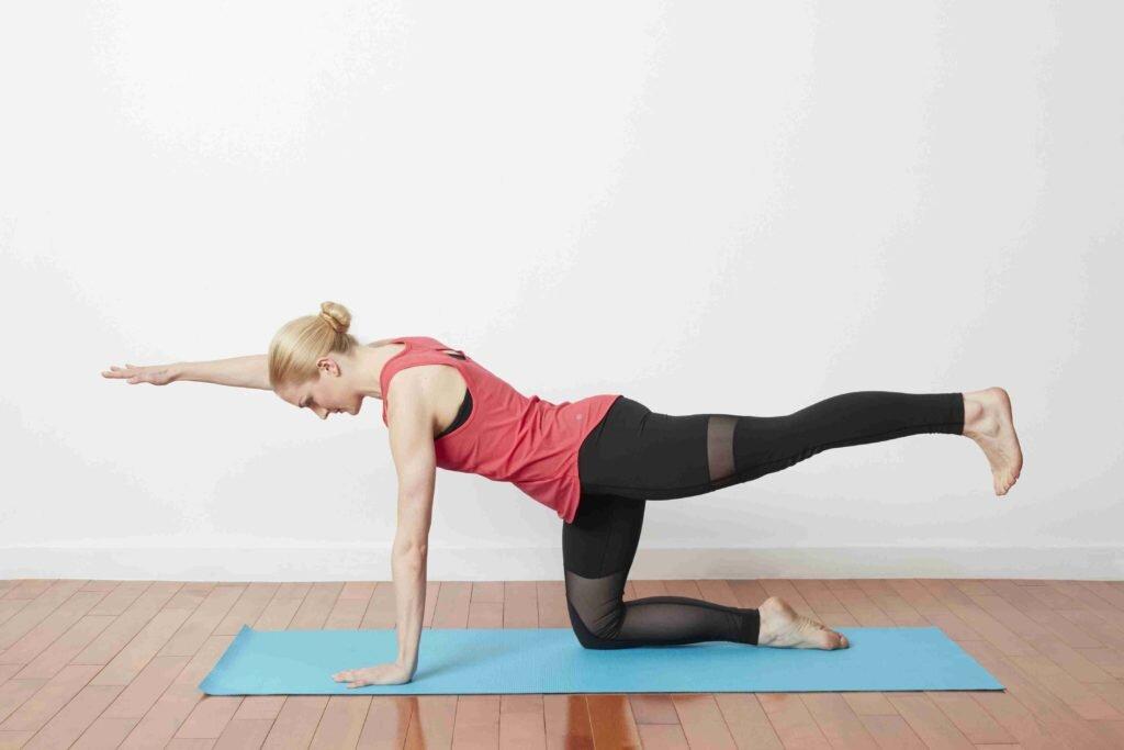 Thảm tập Sportslink với chất liệu chống trơn trượt khi tập