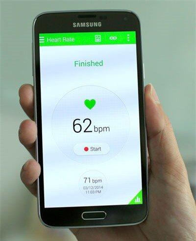 Cảm biến đo nhịp tim được tích hợp trên chiếc điện thoại này.