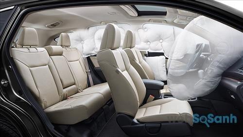 Hệ thống túi khí an toàn trên Honda CR-V 2016