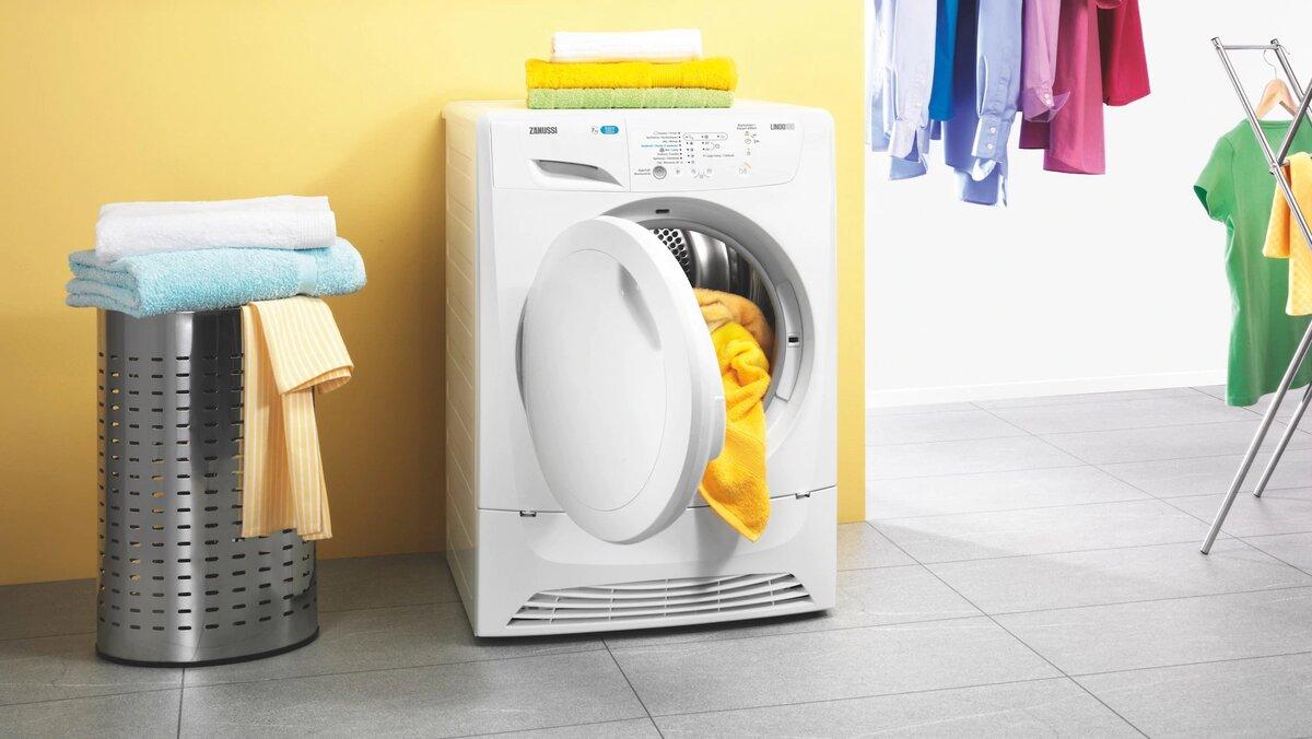 Máy sấy quần áo có kiểu dáng nhỏ gọn và tiết kiệm không gian sống