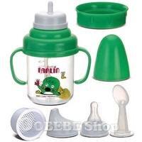 Tập uống sữa cùng bé với Farlin BF-187 - Ly nhựa 5 chức năng, 150ml