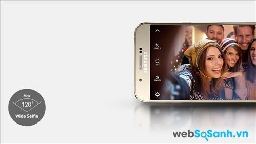 Camera trước độ phân giải cao 5MP với góc chụp rộng lên đến 120 đem đến những buecs ảnh selfie chất lượng cao cho bạn