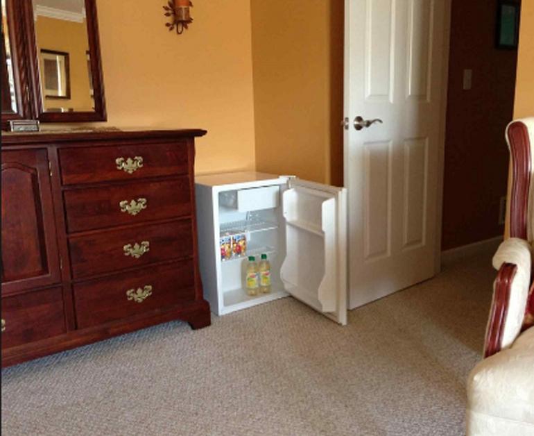tủ lạnh mini có thể để trong phòng ngủ còn tủ lạnh dung tích lớn hơn thì nên đặt xa phòng ngủ