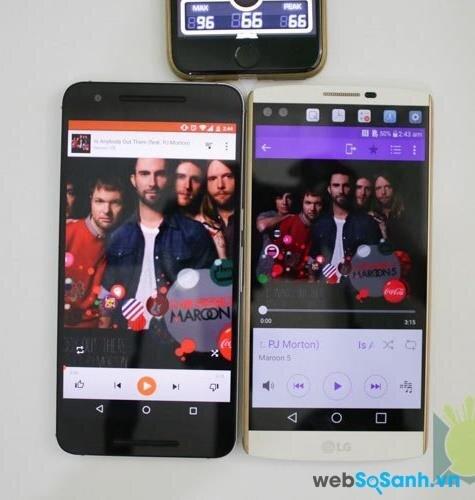 Điện thoại LG V10 và điện thoại Nexus 6P
