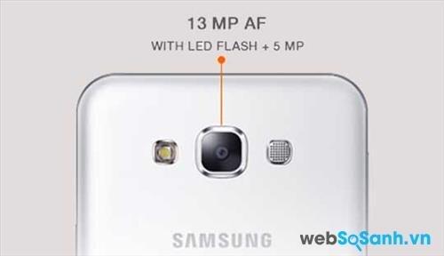 Galaxy E7 có camera chính độ phân giải 13 megapixel