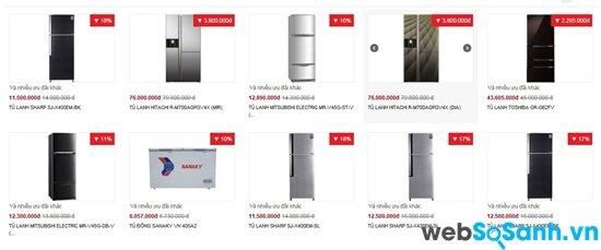 Nguyễn Kim đồng loạt giảm giá tủ lạnh