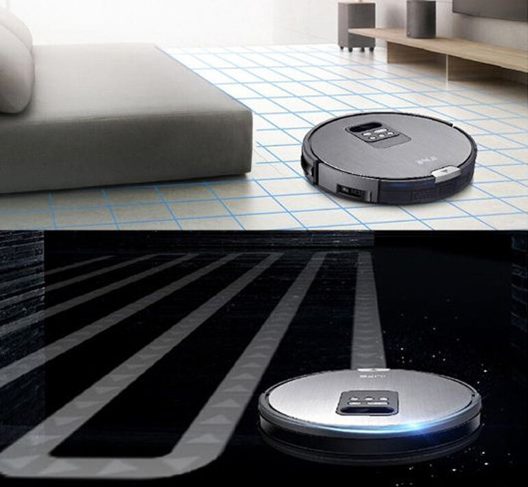Robot Hút Bụi Lau Nhà iLife X750 (2000W) - Đen