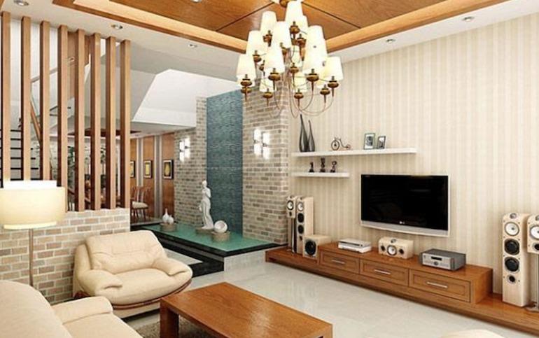 Sắp xếp nội thất phòng khách nhỏ theo quy luật bất đối xứng