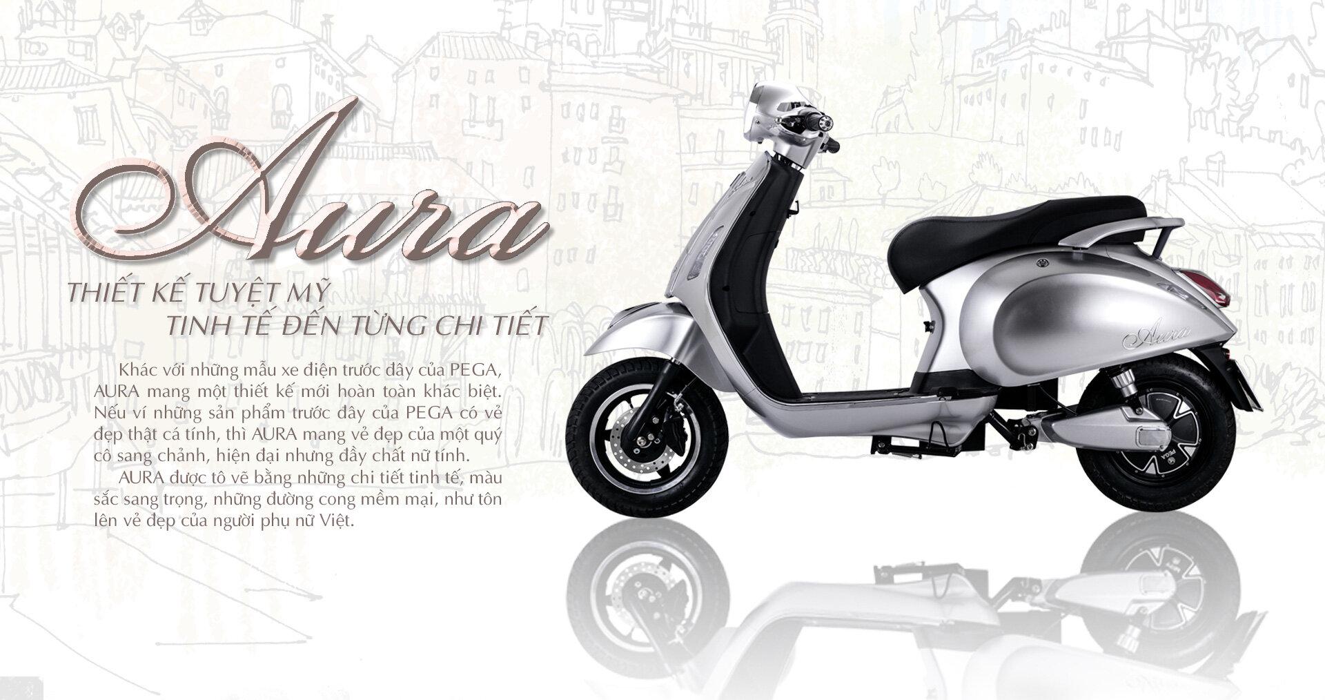 Xe máy điện Pega Aura có công suất 1400W