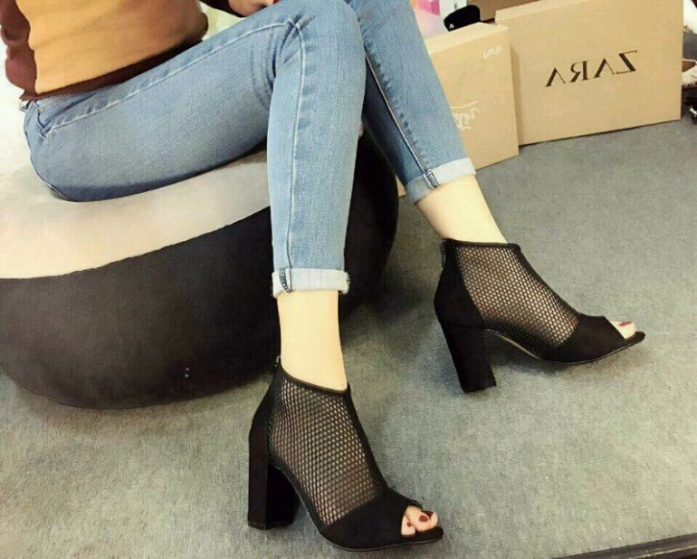 Giày boot lưới cổ ngắn Jumba