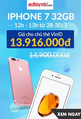 [ Adayroi.com ] Giờ vàng ICT - Giảm sốc 12h - 13h. Từ 28-30/3. Click XEM NGAY!