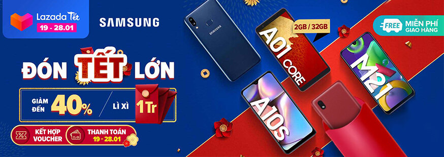 [ Lazada.vn ] Samsung đón tết lớn, giảm 40%