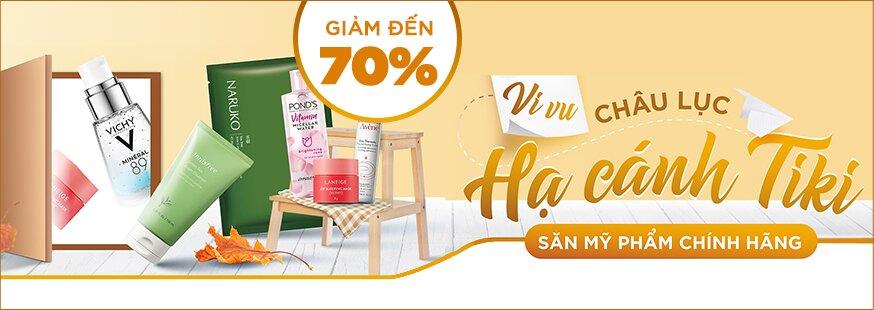 [Tiki.vn] Săn mỹ phẩm chính hãng. Giảm đến 70%. Click XEM NGAY!