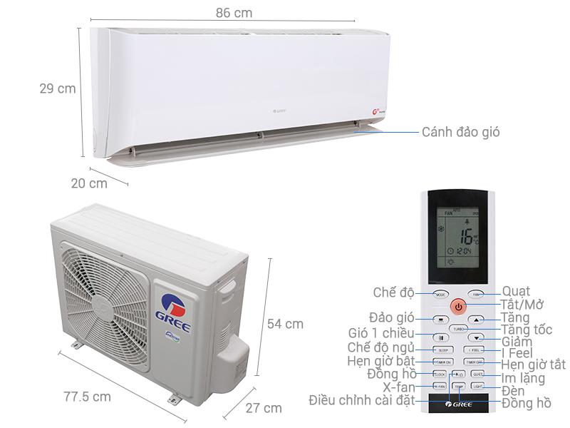 Máy lạnh Gree inverter 1 HP GWC09GB-K3DNC1A