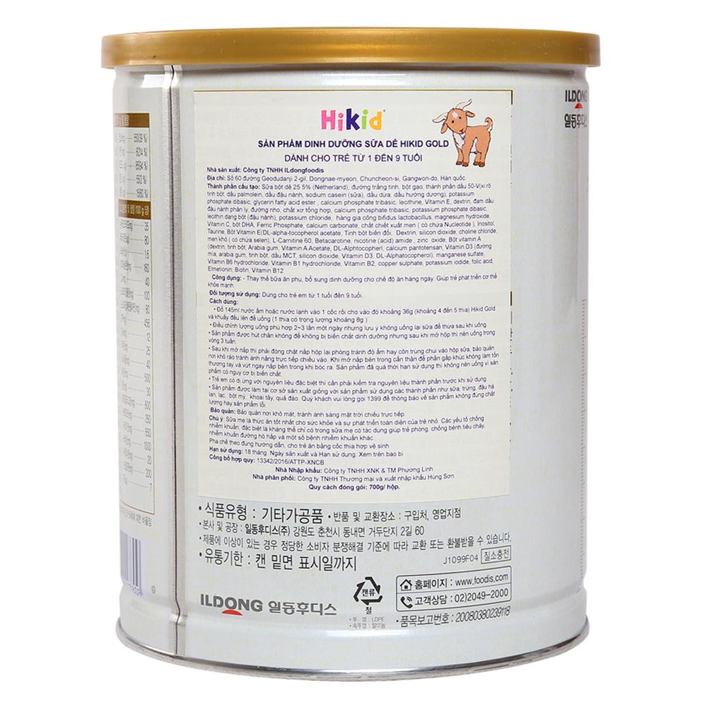 Sữa Hikid dê 700g (1 - 9 tuổi)