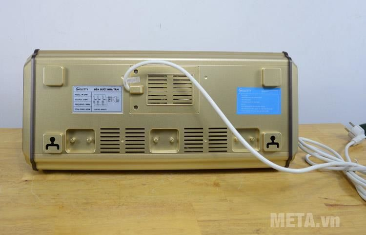 Đèn sưởi nhà tắm 3 bóng Moletty M-03HR (có điều khiển từ xa)